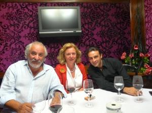 Ignacio Ruiz Quintano, Catalina Luca de Tena y Enrique Ponce en Bilbao, agosto de 2011.