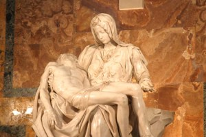 La Pietà de Miguel Ángel.