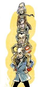 Larra, Ruano, Ramón y Umbral. (Ilustración: Ulises)