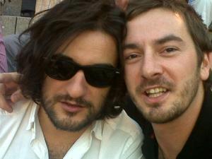 Jabois y uno en Las Ventas, junio de 2012, en la desenfadada actitud que describe el relato.