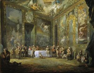 'Carlos III, comiendo ante su corte'. Una sutil obra maestra del detalle y la ironía.