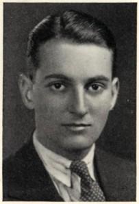 Louis Auchincloss en el registro de Yale del año 1939.