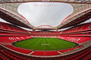 Escenario de la coronación. Estadio da Luz, Lisboa.