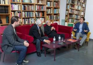 Borja Martínez, Raúl del Pozo, Víctor Márquez Reviriego y servidor.