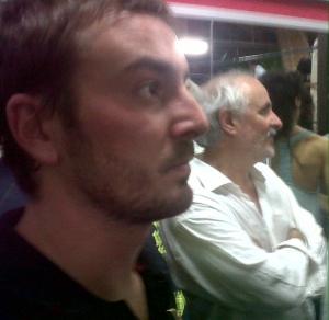 Con Iñaki, en el boxeo.