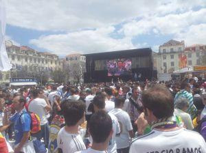 Madridismo. Lisboa, mayo de 2014, Praça da Figueira.