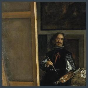 Velázquez viendo un Atleti-Juve.