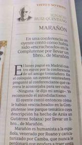 La cita que mereció el evento en la columna de ABC del maese Ignacio Ruiz Quintano.