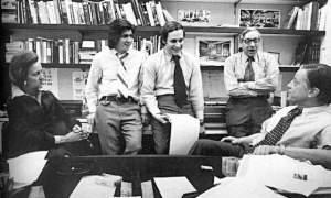 Katherine Graham, Bernstein, Woodward, Bradlee y otros disfrutones del viejo periodismo.