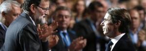 Rajoy opaco, Aznar luminoso.