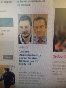 Cuando la noticia es el periodista, pese al sonrojo.