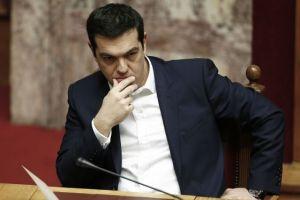Tsipras pensando eslóganes.