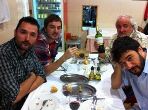 Hughes, Bustos, Ignacio Ruiz Quintano y Manuel Jabois.