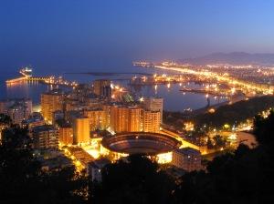Málaga iluminada.