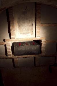 La cripta de los Bustos, mis ancestros manchegos, donde yace don Francisco.