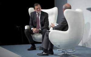 Rajoy frente a Rosell en el foro de EL MUNDO.