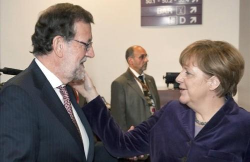 MERKEL  CAMERON Y OTROS LIDERES DE LA UE SE INTERESAN POR LA AGRESION A RAJOY